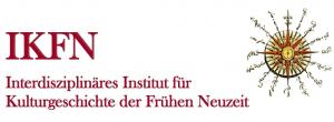 Auf dem Bild ist das Logo des Interdisziplinären Institutes für Kulturgeschichte der Frühes Neuzeit (IKFN).